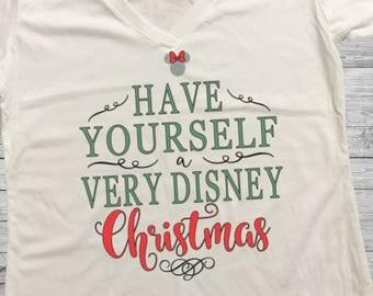 Very Disney Christmas Shirt. Disney Christmas Shirt. Very Merry Christmas Party Shirt. Silver Glitter Shirt. Christmas Shirt. Disney Shirt.