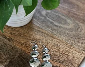 vintage silver disc earrings | jewelry