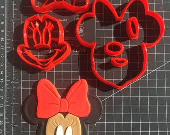 Extra Detailed Minnie Mouse Multi-piece Cookie Fondant Cutter Set - Large Sizes!