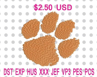 Clemson Tigers Logo Machine Embroidery Design 4 Sizes-INSTANT DOWNLOAD