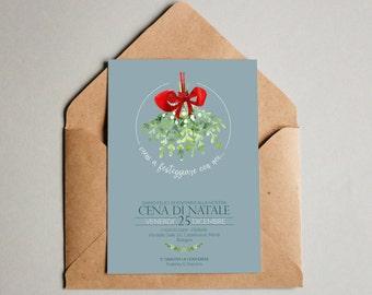 Christmas dinner invitation//Christmas Eve card//digital file download or paper
