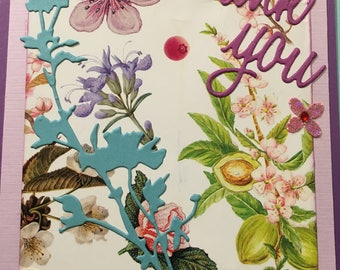 Garden Flowers Thank You Card