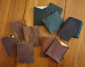 Handmade Leather Minimalist Wallet