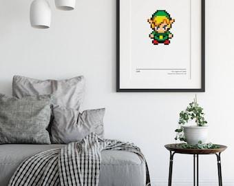 Link - Legend of Zelda - Nostalgia Poster