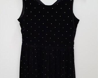 OOTD - black velvet dress - XS