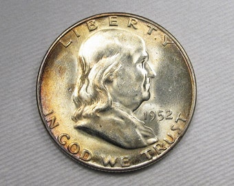 1952 S Franklin Half Dollar NCH UNC Coin