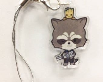 Guardians of the Galaxy - Rocket Raccoon & Baby Groot Acrylic Charm