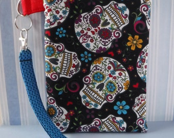 Kindle Case - Kindle Cover - Zippered Pouch - Kindle Fire Case - Kindle Fire Cover - Padded Case - Kindle Sleeve - Computer - Sugar Skulls