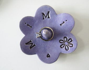 Mimi ring dish - Gift for Mimi - Lilac Keepsake Ring Dish -  Gift box included