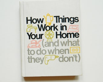 1970s Handyman Book / Retro Fix It Guide / How To Book/ Design Typography Helvetica Font Lover / Vintage Home Repair