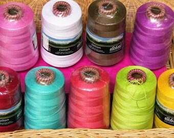 100% Mercerised Cotton Yarns for Weaving ,  embroidery and sewing