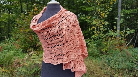 Wedding shawl, versatile shawl wrap, peach scarf, fall fashion shawl, bridal shawl, rectangular shawl, crochet wrap stole
