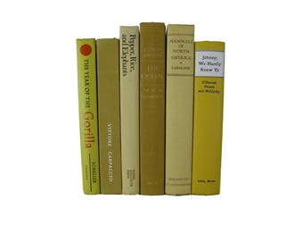 Yellow  Decorative Books for Hipster Room Decor and Apartment Decorating