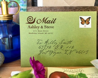 Custom Address Stamp, Self Ink Return Address Stamp, Custom Address Stamps, Self Inking Personalized Stamps, Snail Mail, DIY Printing, Gifts