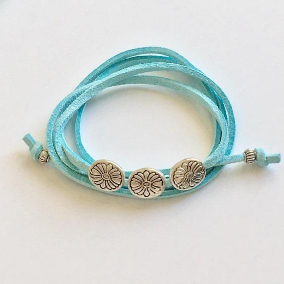 wrap bracelet, boho jewelry, bohemian beach gypsy bracelet
