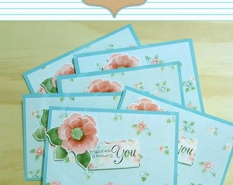 Coral Rose Friend Tag Happiness is knowing you tag friend card Thank you card teacher gift coworker gift Best friends card Appreciation