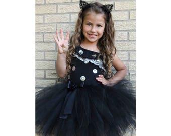 Black Tutu Skirt, Halloween Black Tutu