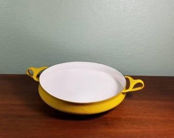 Dansk Kobenstyle Yellow Enamel Paella Pan