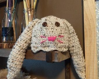 Crocheted Newborn Bunny Hat