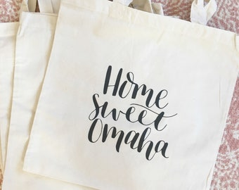 Home Sweet Omaha tote bag | Grocery tote | Reusable bag