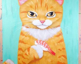 Shrimp Sushi Original Painting