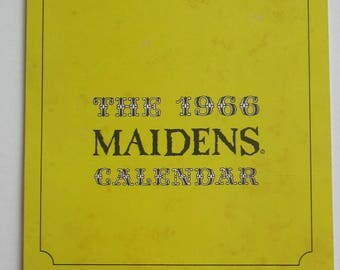 Original 1966 Maidens Calendar Cartoon Nude L.Peterson Art - Goofy Girls - Free Shipping