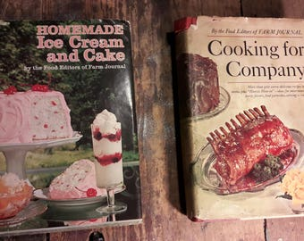 Vintage Cookbooks (2) - Published by the Farm Journal - 1960s - 1970s - Hardcover - Original Dust Jacket - First Edition - Old Cooking Books