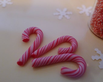 Dollhouse 1:6 scale Dolls Food Miniature Christmas Candy Cane Handmade by Nadia Michaux