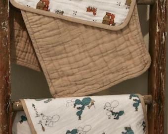 Cotton Burp cloths
