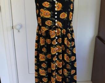 90's Sunflower Sundress - Size Medium