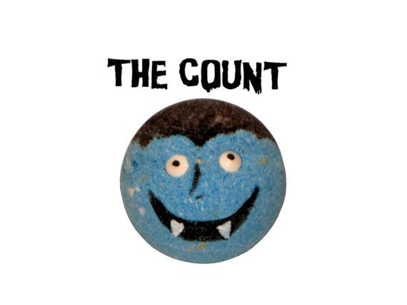 THE COUNT Bath Bomb - Spooktacular Bath Fun w/ Organic Coconut Oil & Rice Bran Oil - / Vegan / Kids / Bathtime Fun / Bath Fizzer / HALLOWEEN