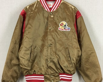 Vintage 80's San Francisco 49ers Gold & Red Swingsters Jacket Sz M/L