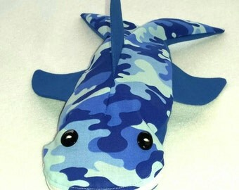 Personalized Shark Pencil Case - Blue Camo