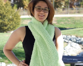 Green wide scarf