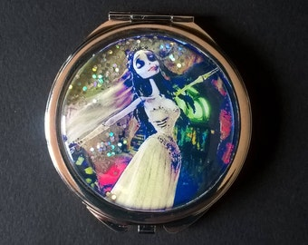 "Pocket mirror or bag, sequined "" Emily "" The Corpse Bride"