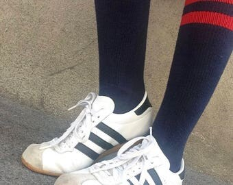 ADIDAS Rekord | Vintage | 1960s | Sneakers | Adidas | Leather white blue stripes size 39 / Us 8.5 Collector | RARE