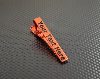 Orange Tie Bar, Orange Tie Clip, Orange Wedding, Groomsmen Gift, Personalized Tie Bar, Custom Tie Bar, Tie clip, Orange Gift,Custom Tie Clip