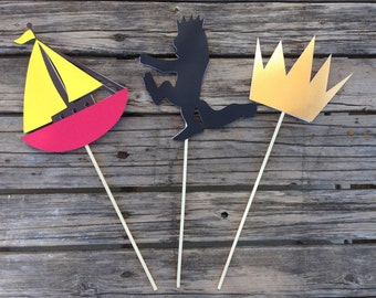 Wild One Center Piece Sticks - Baby Shower - First Birthday, Wild One Party,  Where the Wild Things Are Inspired