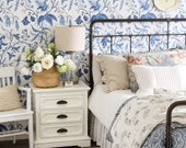 Chinoise / Blue Repositionable Peel 'n Stick Wallpaper Choose your color!