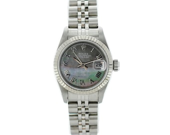 Ladies Rolex Oyster Perpetual Datejust 69174 Mother of Pearl Dial