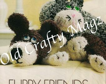 Crochet Pattern Set - Furry Friends Neck Pillows - (w/ Original Pages from Magazine)
