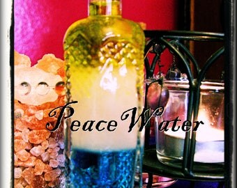 PEACE WATER | 4 oz. Glass Bottle | Blessing | Spell | the Craft | Wicca | Witch | Pagan | Magick | Hoodoo