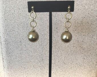 Champaign Pearl Earrings by Dobka