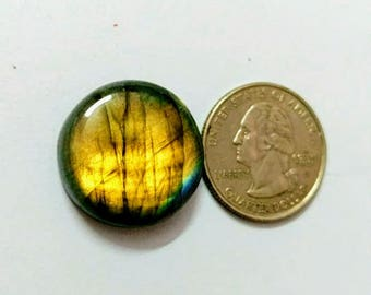 23.50 mm,Round Shape Labradorite Cobochon/Golden Flash/wire wrap stone/Super Shiny/ Spectrolite Cabochon/Semi Precious Gemstone/labradorit