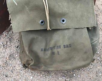 Vintage US Army Canvas Ammunition Bag