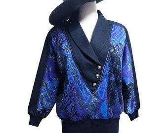 Fiber Street VINTAGE! rare amazing details!  80s beautiful sweater art !