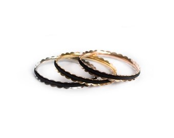 LAUREL Hair Tie Bracelet Bangle Made From Hypoallergenic Stainless Steel Available in Silver, Gold, or Rose Gold. Hair Tie Holder