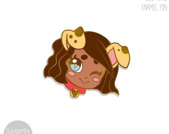 ENAMEL PIN | ORIGINAL| Puppy Girl