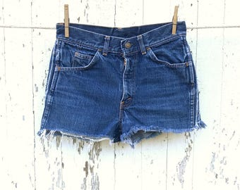 High Waist LEVIS Shorts 28 Waist Cut Off Denim Shorts