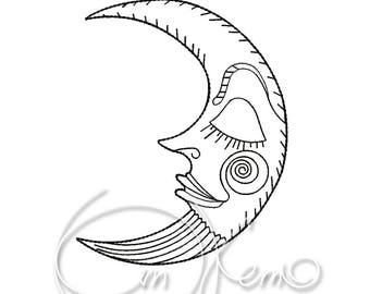 MACHINE EMBROIDERY DESIGN - Moon
